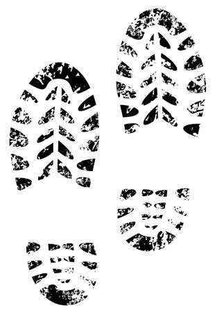 Ilustración de shoe print grunge illustration vector eps 10 - Imagen libre de derechos