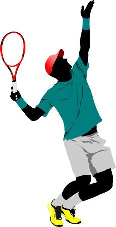 Illustration pour Tennis player - image libre de droit