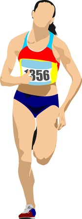 Woman Long-distance runner.