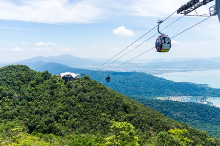 Photo for Cable Car on tropical island, Langkawi, Malaysia, Asia - Royalty Free Image