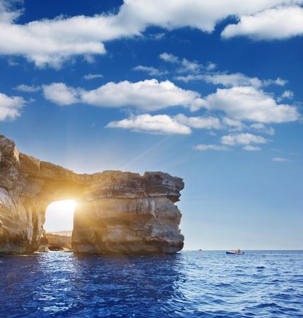Photo for Fantastic Azure Window, famous stone arch on Gozo island, Dwejra. Malta - Royalty Free Image