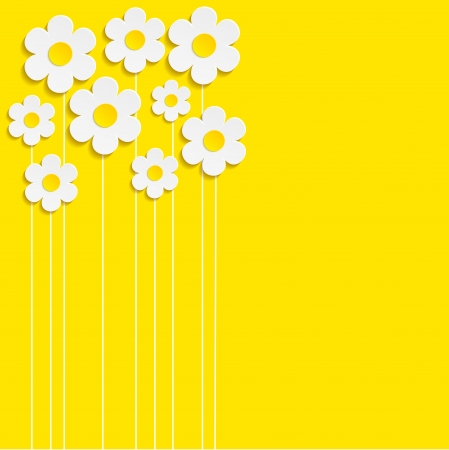Illustration pour Beautiful Spring Flowers yellow Background -Vector - image libre de droit