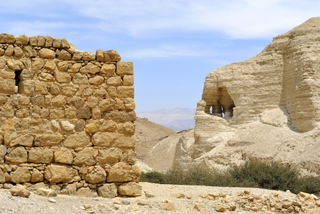 Ancient ruins of Zohar fortress in Judea desert, Israel.