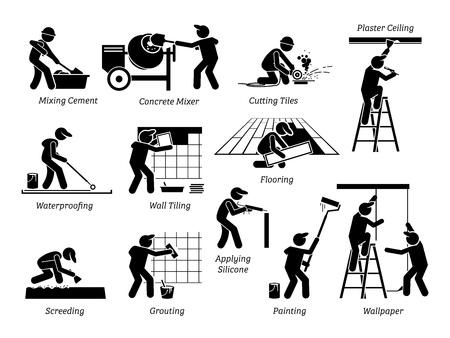 Illustration pour House renovation image illustration - image libre de droit