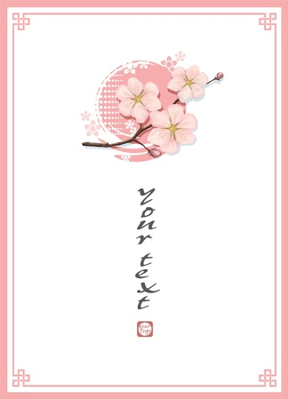 Oriental Blossom Cherry Template Background