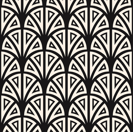 Illustration for Vector seamless pattern. Regular backdrop template. Repeating  stylized geometric floral elements - Royalty Free Image
