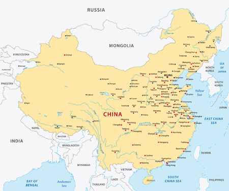 Illustration pour china map - image libre de droit