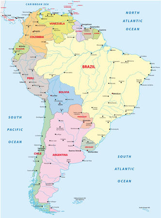 Illustration pour south america map - image libre de droit