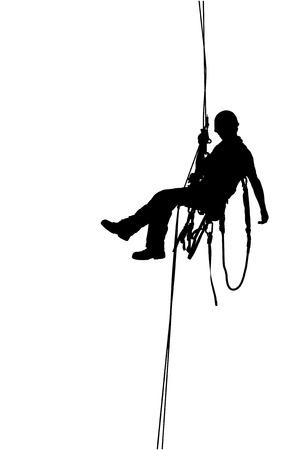 Illustration pour Climber, Mountaineer - image libre de droit