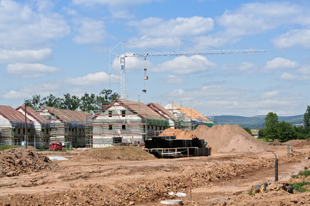 Photo for housing estate under construction - Royalty Free Image