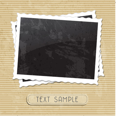 Illustration pour vintage photo template - image libre de droit