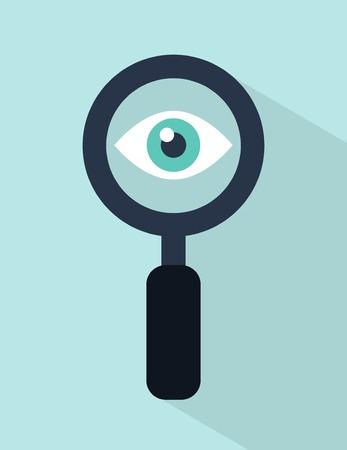 Illustration pour vector web visibility concept illustration - image libre de droit