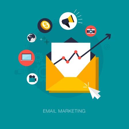 Photo pour vector email marketing concept illustration - image libre de droit