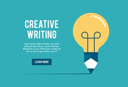 Ilustración de concept of creative writing workshop, illustration - Imagen libre de derechos