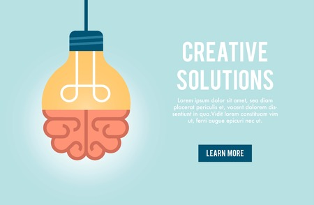 Illustration pour concept banner for creative solution, illustration - image libre de droit