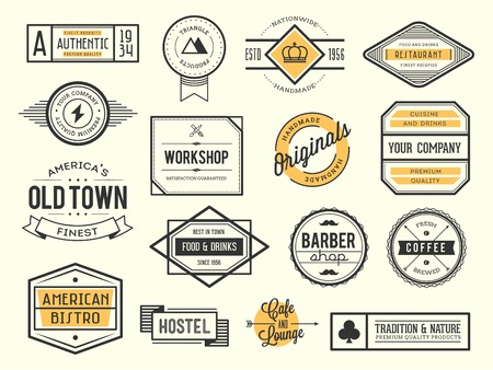 Illustration for set of vintage icon, badges and labels - Royalty Free Image