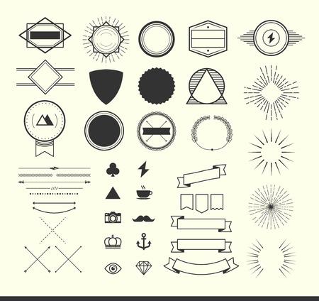 Illustration for set of vintage elements for making icon, badges and labels. - Royalty Free Image