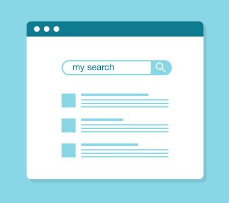 Illustration pour concept of using web search, vector illustration - image libre de droit