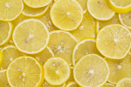Photo for background of sliced ripe lemons - Royalty Free Image