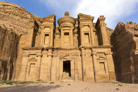 Photo for Ancient abandoned rock city of Petra in Jordan tourist attraction - Royalty Free Image