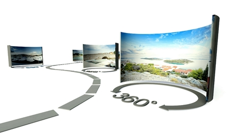 Photo pour Virtual tour of 360 degrees panoramas - image libre de droit