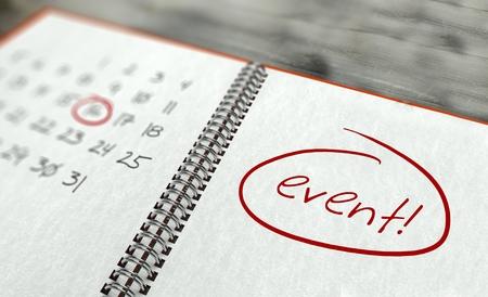 Photo pour Event important day calendar concept - image libre de droit