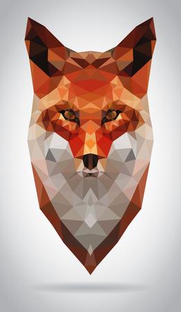 Fox head vector isolated, geometric modern illustration