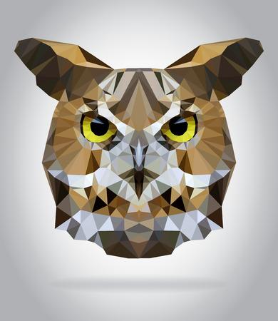 Illustration pour Owl head vector isolated, geometric modern illustration - image libre de droit
