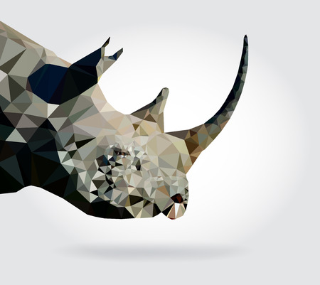 Rhino head vector, geometric modern illustration