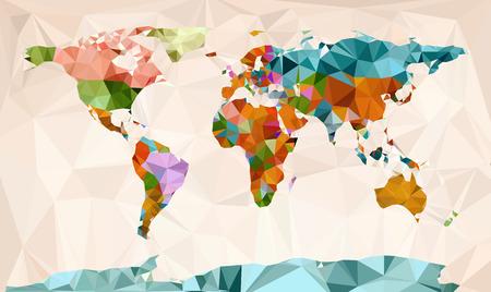 Illustration pour World map vector geometric design - image libre de droit