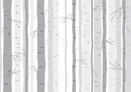 Ilustración de Seamless tree wallpaper trees pattern - Imagen libre de derechos
