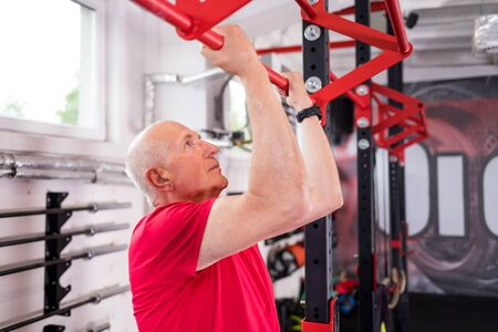 Photo for Senior man at the gym - Royalty Free Image