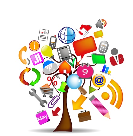 tree icons business
