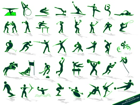 green outlines sports