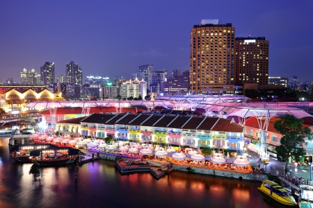 Photo for Singapore city at night - Royalty Free Image