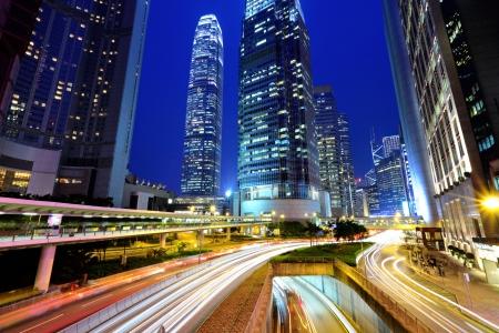 traffic in urban at night