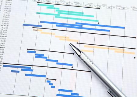 Photo pour Project management with gantt chart - image libre de droit