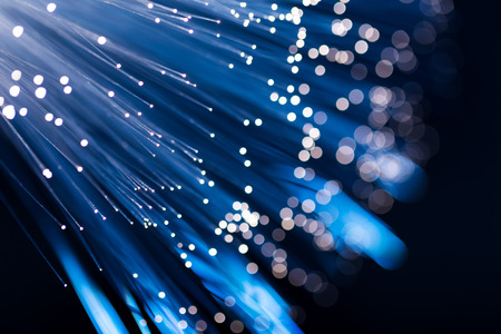 Foto de Blue fiber optic - Imagen libre de derechos