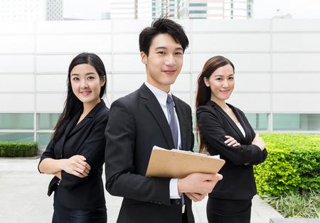 Photo pour Business teammate working together - image libre de droit