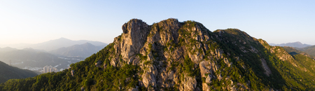 Photo pour Lion rock mountain, panoramic shot - image libre de droit