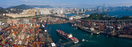 Photo for Kwai Tsing , Hong Kong 12 February 2019:- Hong Kong container port - Royalty Free Image