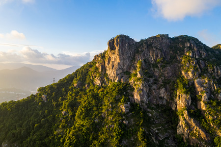 Photo for Lion Rock mountain under sunset - Royalty Free Image