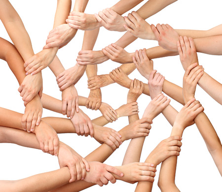 Photo for Ring of many hands team - Royalty Free Image