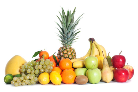 Group of fruits isolated