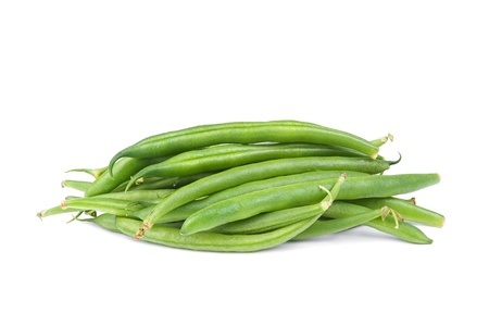 French green bean string isolated on white background