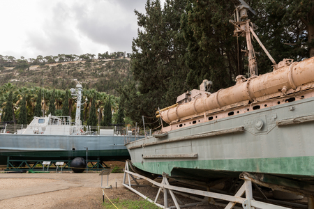 Foto de Clandestine Immigration and Naval Museum in Haifa, Israel - Imagen libre de derechos