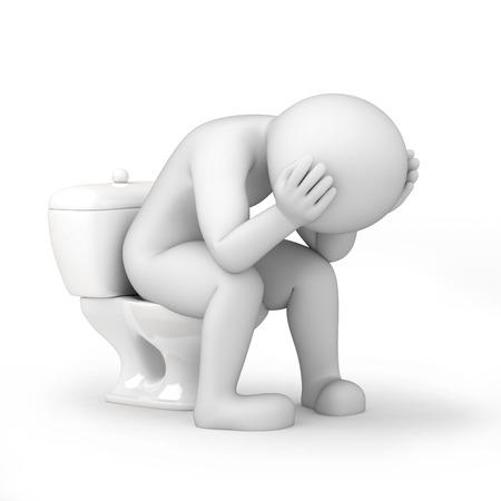 Foto de man in a toilet, 3d image with work path - Imagen libre de derechos