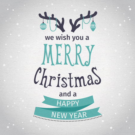 Illustration pour Greeting Card. Merry Christmas lettering. Vector illustration - image libre de droit