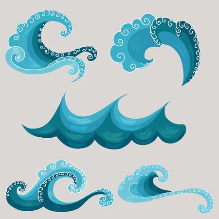 Ilustración de decorative wave. - Imagen libre de derechos
