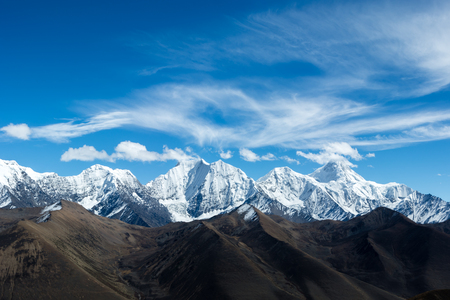 Photo for snow capped mountains - Royalty Free Image